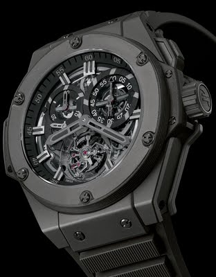 RELOJES HUBLOT KING POWER CHRONO TOURBILLON ALL BLACK